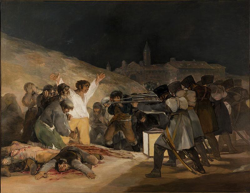 El tres de mayo de 1808 en Madrid, 1814, de Francisco de Goya. El Prado